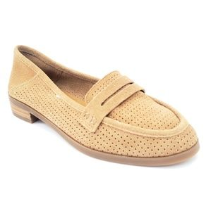 Lucky Brand Women's 7.5 Leather Loafers Flats tan